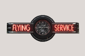 FLYING SERVICE NEON CLOCK SIGN - ALTIMETER
