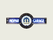 MOPAR GARAGE NEON CLOCK SIGN- Black w/ Blue Mopar M Logo