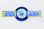 MUSCLE MOTORS Chevy Time Neon Clock Sign w/custom