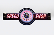 SPEED SHOP NEON CLOCK SIGN