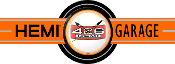 HEMI GARAGE NEON CLOCK SIGN - ORANGE 426
