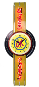 OK USED CARS NEON CLOCK SIGN
