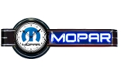 MOPAR OFFSET NEON CLOCK SIGN- Black w/ Blue Mopar M Logo